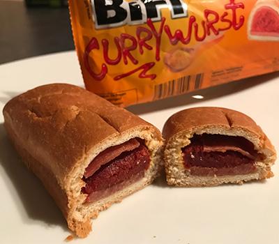 Bifi Currywurst ausgepackt